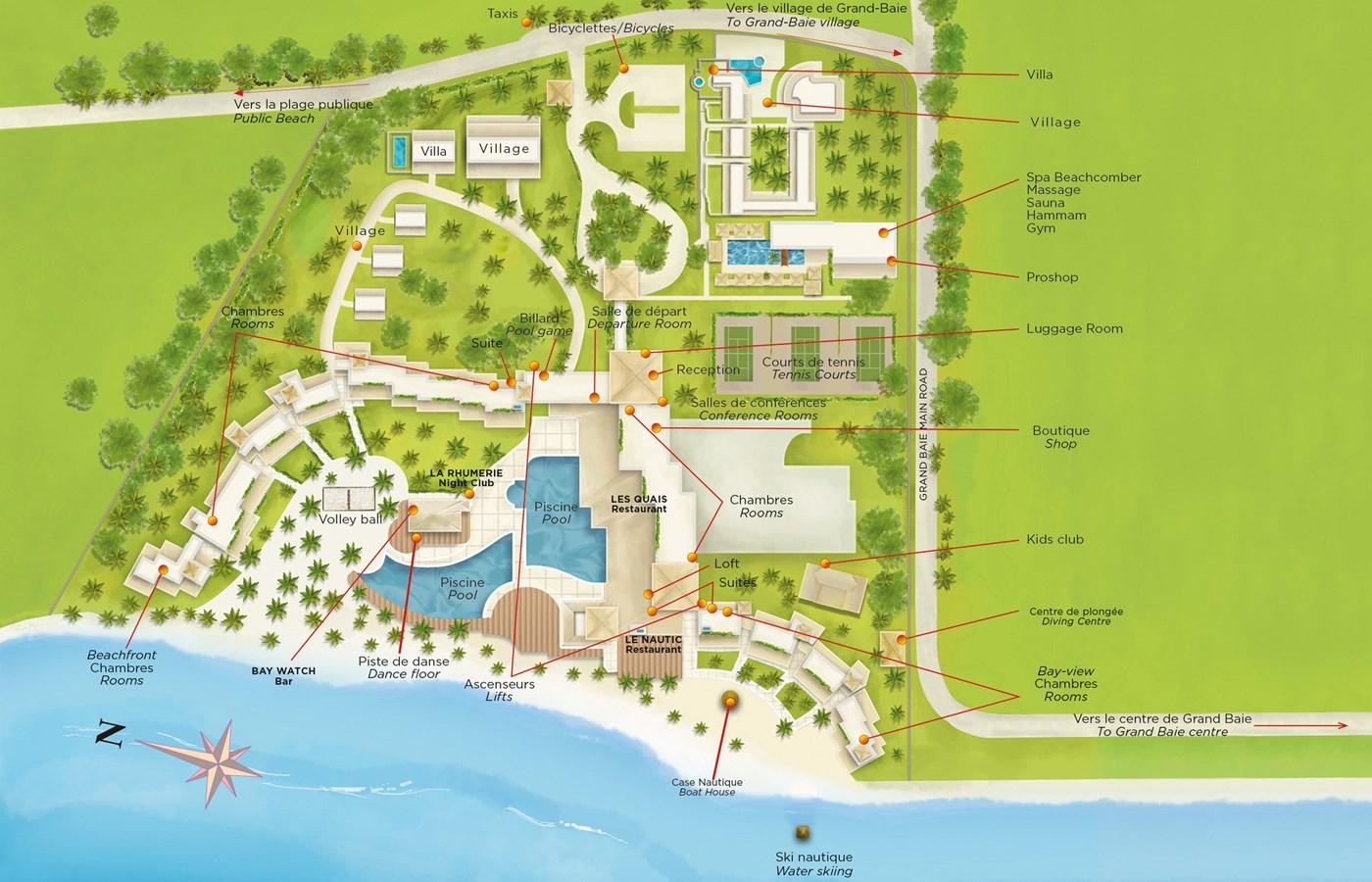 Beachcomber - Resort Map | Mauricia Beachcomber Resort & Spa ...